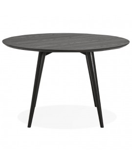 Table à diner design JANET BLACK 120x120x75 cm