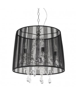 Lampe suspendue design CONRAD BLACK 45x45x45 cm