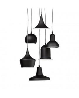 Lampe suspendue design PENGAN BLACK 50x60x29 cm