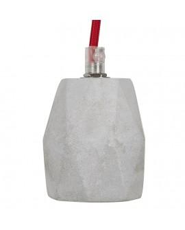 Lampe suspendue design ATUPAKA GREY 11x11x150 cm