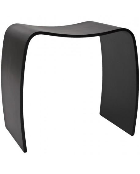 tabouret bas MITCH BLACK 31x47x45 cm