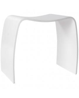 tabouret bas MITCH WHITE 31x47x45 cm
