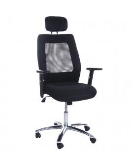 fauteuil de bureau DUBLIN BLACK 71x72x133 cm