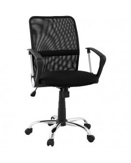 fauteuil de bureau HARVARD BLACK 58x60x102 cm