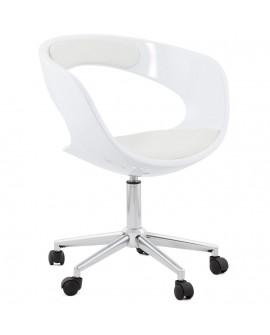 fauteuil de bureau FELIX WHITE 57x63x80 cm