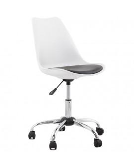 fauteuil de bureau EDEA WHITE 58x58x93 cm