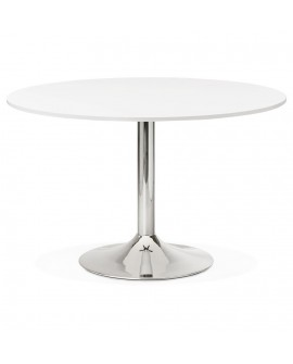Bureau design RADON WHITE 120x120x77 cm