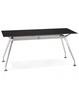 Bureau design KRUSH 160 BLACK 80x160x74 cm